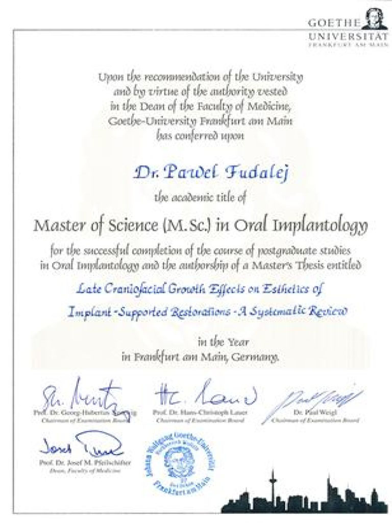 Master of Science in Oral